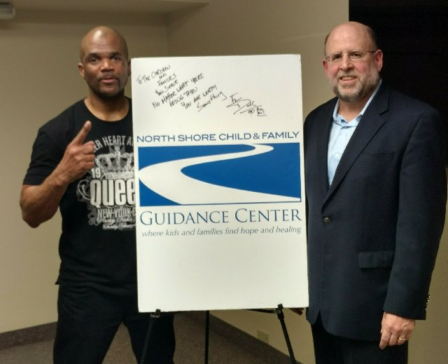 Darryl McDaniels with Guidance Center Executive Director Andrew Malekoff