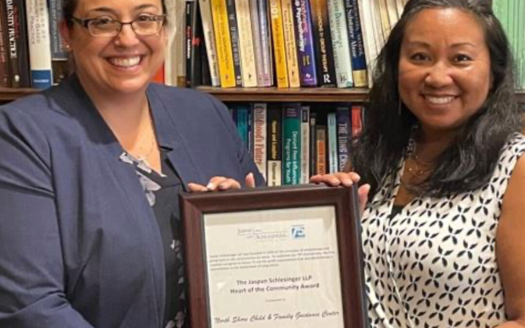 Jaspan Schlesinger Presents Guidance Center with Heart of the Community Award, July 2021